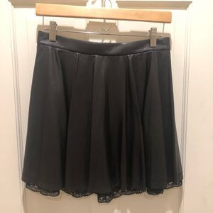 Alice + Olivia Leather Skirt